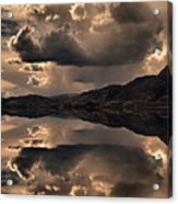 Strange Clouds Reflected Acrylic Print