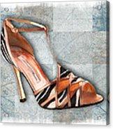 Strappy Striped Sandal Acrylic Print