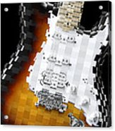Classic Guitar Abstract 2 Acrylic Print
