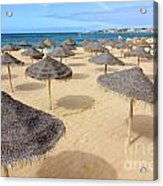 Straw Sunshades Acrylic Print