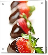 Strawberries Dipped In Chocolate Acrylic Print