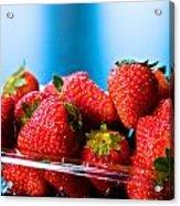 Strawberries In A Plastic Sale Box  Acrylic Print