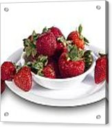 Strawberries In A White Bowl No.0029v1 Acrylic Print
