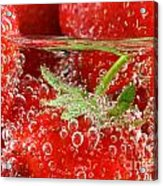 Strawberries In Water Close Up Acrylic Print