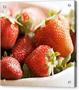 Strawberries Acrylic Print by Kim Fearheiley
