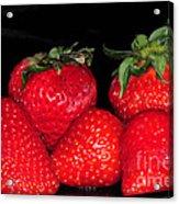 Strawberries Acrylic Print by Paul Ward