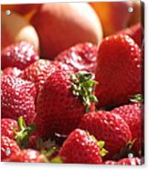 Strawberries With Peaches Acrylic Print