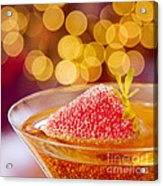 Strawberry And Champagne Acrylic Print by Kim Fearheiley