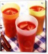 Strawberry Gelatin Acrylic Print