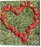 Strawberry Heart Acrylic Print