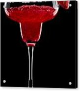 Strawberry Margarita In Front Of A Black Background Acrylic Print