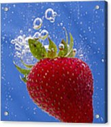 Strawberry Soda Dunk 3 Acrylic Print by John Brueske