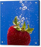 Strawberry Soda Dunk 5 Acrylic Print by John Brueske