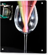 Straws In A Glass At Resonance Acrylic Print