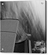 Streaks And Puffs Over City Hall Acrylic Print