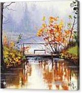 Stream Crossing Acrylic Print by Graham Gercken