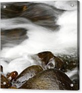 Stream Flowing Over Rocks Acrylic Print