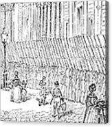 Street Advertising, 1842 Acrylic Print