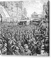 Street Car Strike, 1886 Acrylic Print