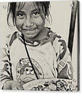 Street Child  Acrylic Print
