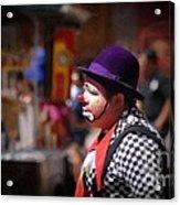Street Clown At Central Park Acrylic Print
