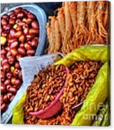 Street Food Snacks In Seoul Acrylic Print