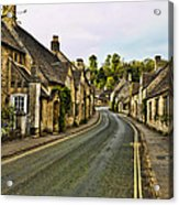 Street In Castle Combe Acrylic Print