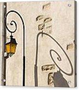 Street Lamp And Shadow Acrylic Print by Igor Kislev