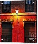 Street Lamp Cafe Acrylic Print