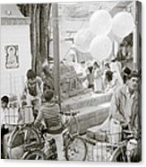 Street Life In Kathmandu Acrylic Print