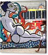Street Life Rio De Janeiro Acrylic Print by Joe Rondone