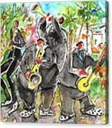 Street Musicians In Cyprus Acrylic Print