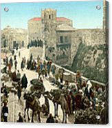 Street Of The Tower Of David Acrylic Print