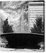 Street Photography Downtown Asheville Fountain  Acrylic Print