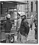 Street Photography - Picking Up Lunch Acrylic Print