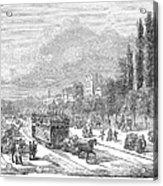 Street Railway, 1853 Acrylic Print