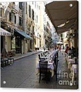 Street Restaurant Acrylic Print