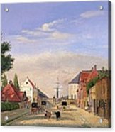 Street Scene Acrylic Print by Danish School