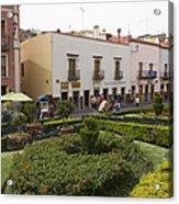 Street Scene In Plaza De La Paz Acrylic Print