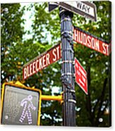 Street Signs In Nyc Acrylic Print