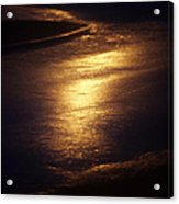 Gold Water On The Street Acrylic Print