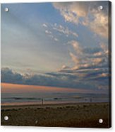 Strolling At Sunrise On The Shore Of Maine Acrylic Print
