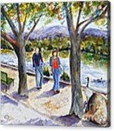 Strolling Virginia Lake Acrylic Print