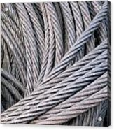 Strong Wire Rope Acrylic Print