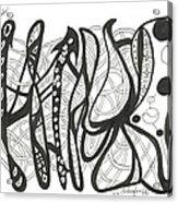 Strut Your Swirls Acrylic Print