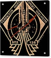 Sts-135 One Last Time Acrylic Print by Jim Ross