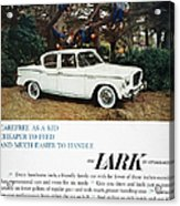 Studebaker Ad, 1959 Acrylic Print