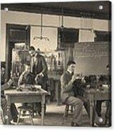 Students Constructing Telephones Acrylic Print by Everett