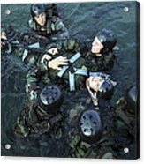 Students Secure A Simulated Casualty Acrylic Print