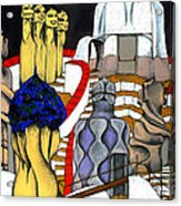 Studying Gaudi Acrylic Print by Nina Mirhabibi